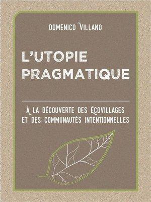 cover image of L'Utopie pragmatique