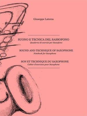 cover image of Suono e tecnica del sassofono