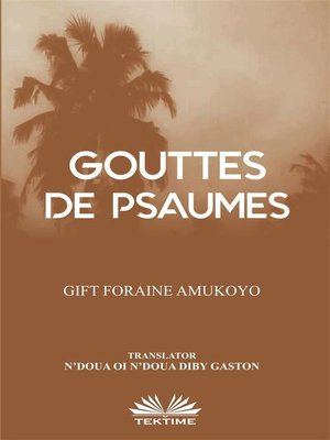 cover image of Gouttes De Psaumes