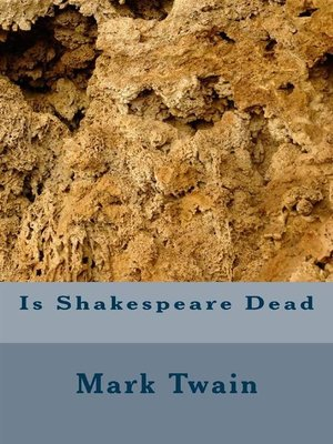 cover image of Is Shakspeare Dead
