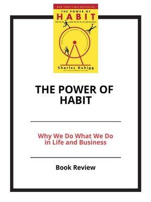 The Power Of Habit By Charles Duhigg Overdrive Rakuten Overdrive