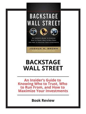 cover image of Backstage Wall Street