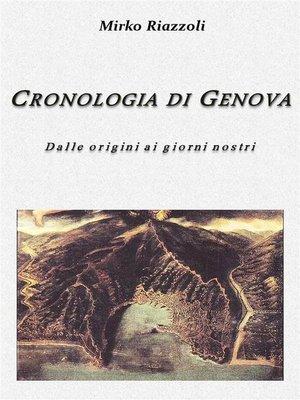 cover image of Cronologia di Genova