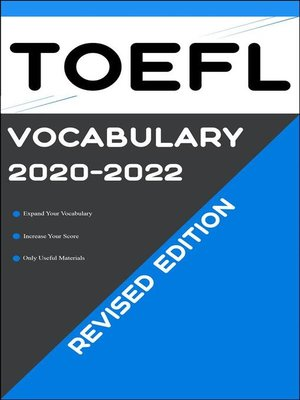 cover image of TOEFL Vocabulary 2020