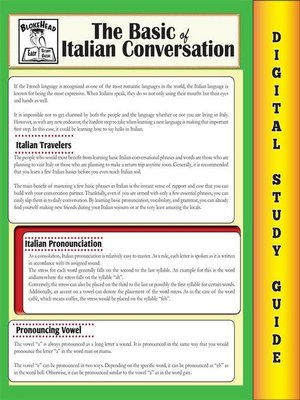 cover image of Italian Conversation (Blokehead Easy Study Guide)