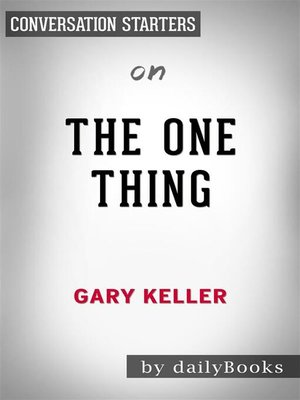 cover image of The ONE Thing--by Gary Keller