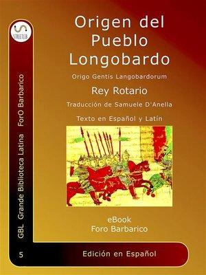 cover image of Origen Del Pueblo Longobardo