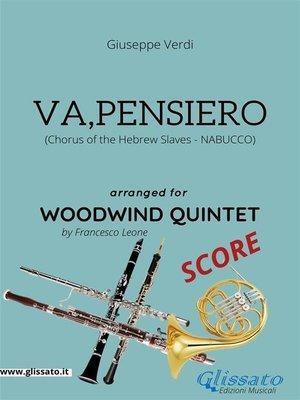 cover image of Va, pensiero--Woodwind Quintet SCORE