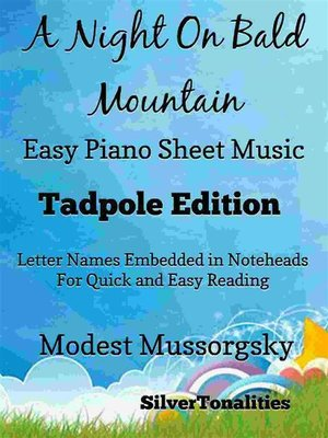 cover image of A Night On Bald Mountain Easy Piano Sheet Music Tadpole Edition