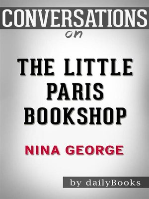 cover image of The Little Paris Bookshop--by Nina George​​​​​​​