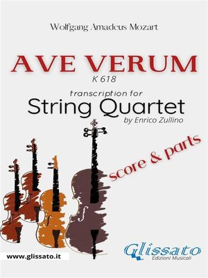 cover image of Ave Verum (Mozart)--String Quartet score & parts