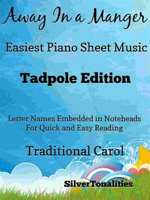 cover image of Away In a Manger Easiest Piano Sheet Music Tadpole Edition