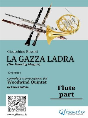 "cover image of Flute part of ""La Gazza Ladra"" for Woodwind Quintet"