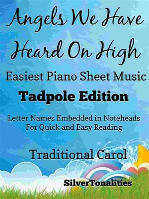 cover image of Angels We Have Heard On High Easiest Piano Sheet Music Tadpole Edition