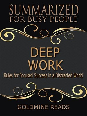 cover image of Deep Work--Summarized for Busy People