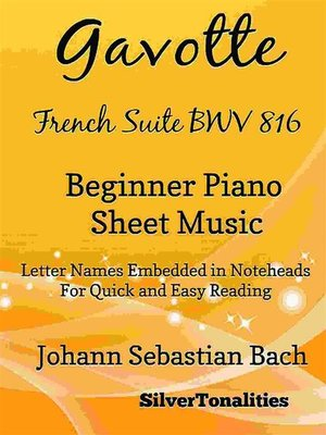 cover image of Gavotte French Suite BWV 816 Beginner Piano Sheet Music