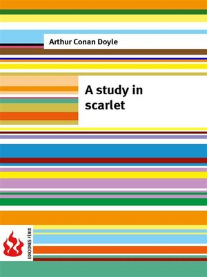 cover image of A study in scarlet (low cost). Limited edition