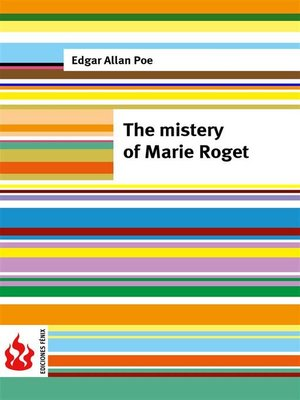 cover image of The mistery of Marie Roget (low cost). Limited edition