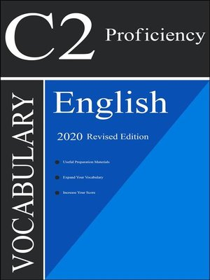 cover image of English С2 Proficiency Vocabulary 2020 Edition