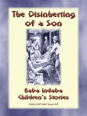 cover image of THE DISINHERITING OF a SON--A Ghostly tale from Old England