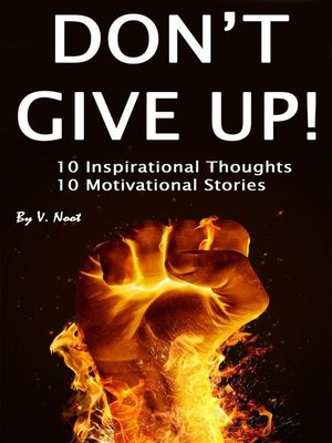 cover image of Dont Give Up