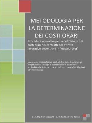 cover image of Metodologia per la determinazione dei costi orari