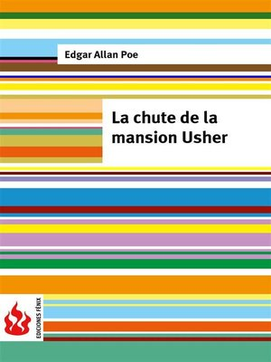 cover image of La chute de la mansion Usher (low cost). Édition limitée