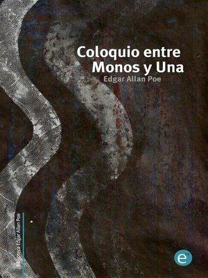 cover image of Coloquio entre Monos y Una