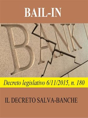 cover image of Bail-in