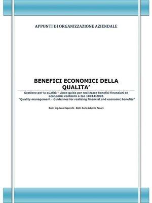 cover image of Benefici economici della qualità