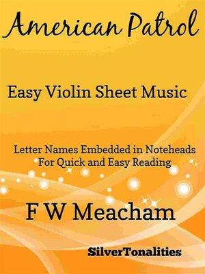 cover image of American Patrol Easy Violin Sheet Music