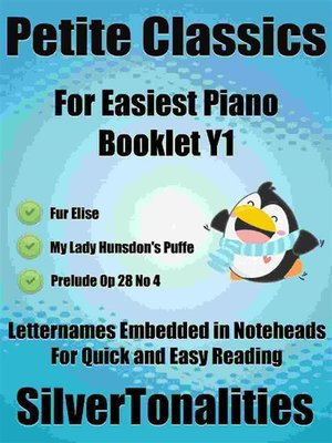 cover image of Petite Classics for Easiest Piano Booklet Y1