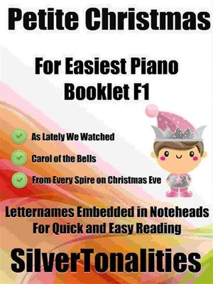 cover image of Petite Christmas for Easiest Piano Booklet F1