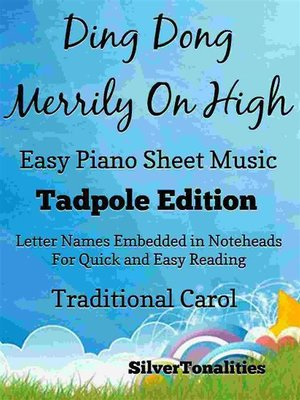 cover image of Ding Dong Merrily On High Easy Piano Sheet Music Tadpole Edition