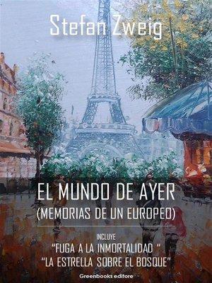 cover image of El mundo de ayer
