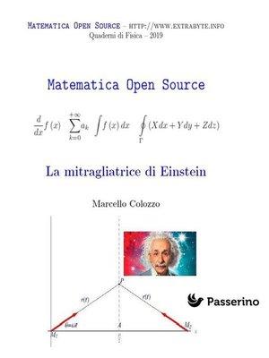 cover image of La mitragliatrice di Einstein