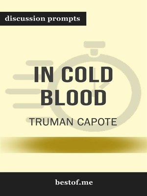 "cover image of Summay--""In Cold Blood"" by Truman Capote 