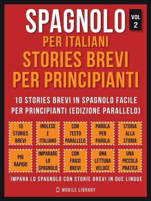 cover image of Spagnolo Per Italiani, Stories Brevi Per Principianti (Vol 2)