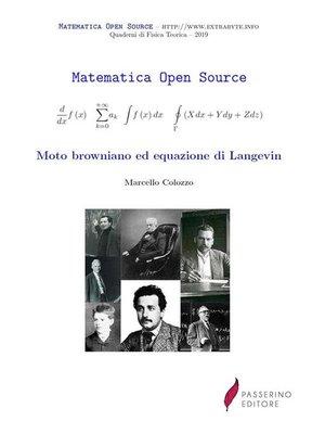 cover image of Moto browniano ed equazione di Langevin