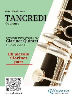 cover image of Tancredi--Clarinet Quintet (Parts)