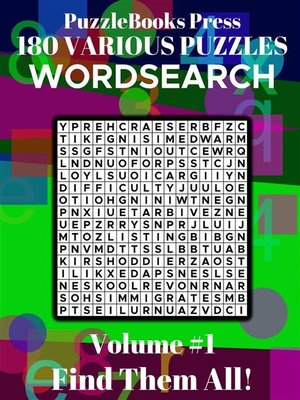 cover image of PuzzleBooks Press--WordSearch--Volume 1