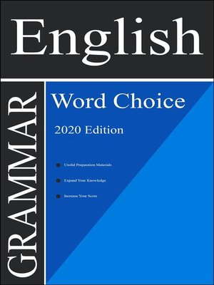 cover image of English Grammar Book--Word Choice (2020 Edition)