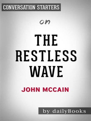 cover image of The Restless Wave--by John McCain