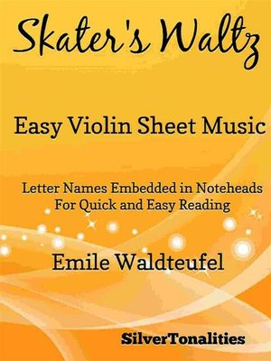 cover image of Skater's Waltz Easy Violin Sheet Music