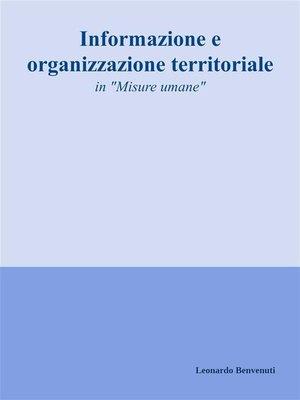 cover image of Informazione e organizzazione territoriale