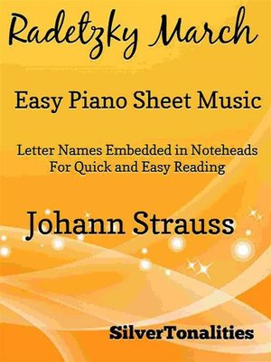 cover image of Radetzky March Easy Piano Sheet Music