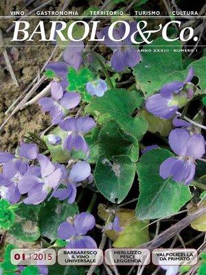 cover image of Barolo&Co.--Anno XXXIII, Numero 1