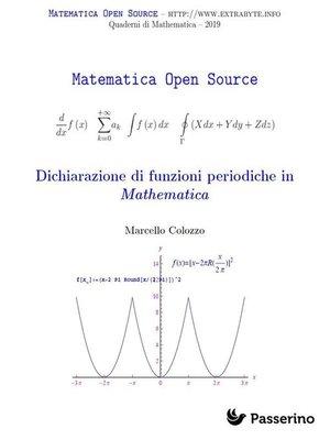 cover image of Dichiarazione di funzioni periodiche in Mathematica