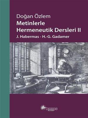 cover image of Metinlerle Hermeneutik Dersleri 2