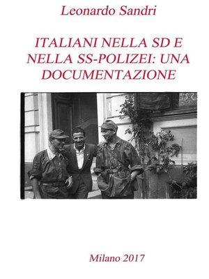 cover image of Italiani nella SD e nella Polizei--Una documentazione